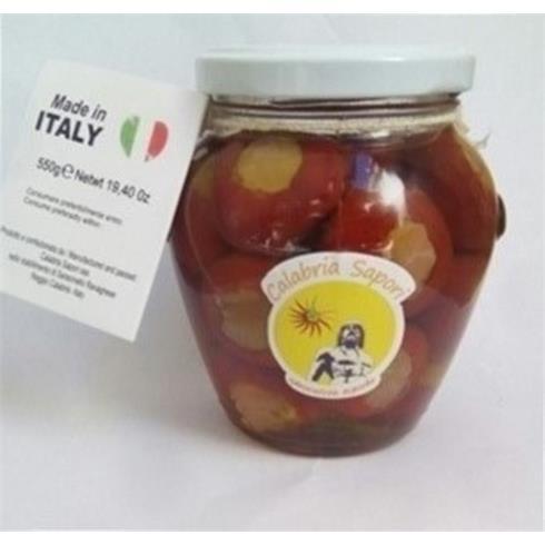 Peperoncini ripieni con prosciutto crudo eprovolone piccante