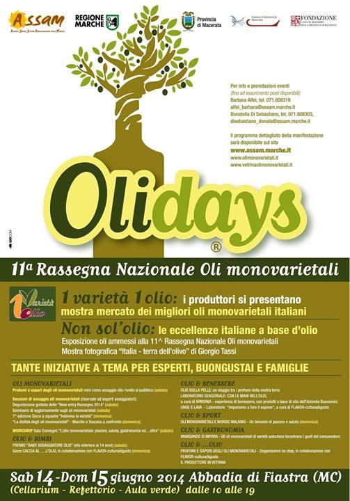 Olidays Rassegna Nazionale degli Oli Monovarietali 2014